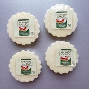 4 Yankee Candle Tarts Wax Melts Christmas Cookie
